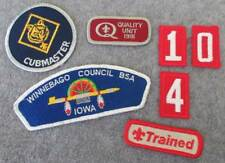Vintage BSA Boy Scout Scouting Council Patch WINNEBAGO Iowa Cubmaster Numbers