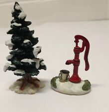 Lemax Christmas Village Tree And Water Pump W/ Bucket