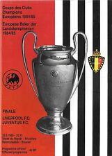 1985 EUROPEAN CUP FINAL PROGRAMME>LIVERPOOL v JUVENTUS Heysel