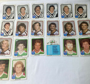 1980s NSW RFL Football Trading Cards x 44 Scanlens Gum