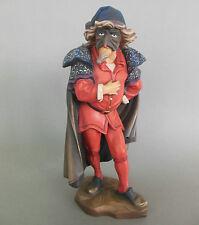 Holzfigur Pantalone mit Maske, Komödiant ca. 25 cm hoch, holzgeschnitzt bemalt