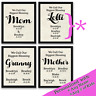 Gift for Mom Grandmother Granny Mum Mommy Personalized Gifts Custom Made Prints