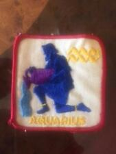 VTG Square Patch AQUARIUS Multicolor Thread Astrology Gift 3'' x 3''