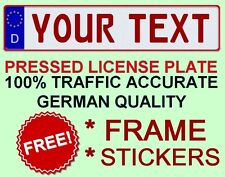 Customized Custom Germany European Euro License Plate German RED TEXT + FRAME