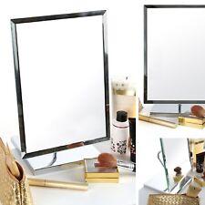 NEW Adjustable Free Standing Mirror Large Rectangle Desk Tilt Framed Bathroom