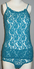 New La Vie en Rose Size S Blue Lace Camisole and Panty Set