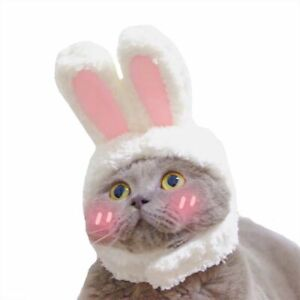 Funny Pet Dog Cat Cap Costume Warm Rabbit Party Christmas Cosplay Photo Props