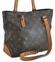Authentic Louis Vuitton Monogram Cabas Piano Tote Bag M51148 Junk LV C3389
