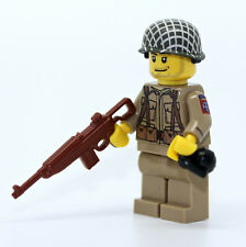 WW2 US Army 82nd Airborne Ranger Soldier Minifigure made with real LEGO(R) parts