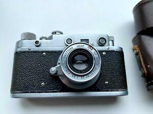 Zorki-C Vintage 1956 Soviet Rangefinder Camera w/ Lens Industar-22 3.5 50mm