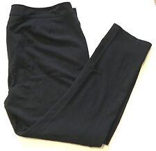 Eileen Fisher Woman Black Pants Stretch Plus Size 1X Flat Front Straight Leg