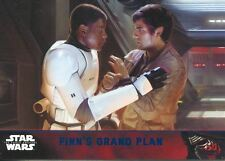 Star Wars Force Awakens S1 Blue Parallel Base Card #85 Finn's grand plan