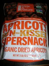 3 LB Organic Made in Nature Dried Apricots No Added Sugar Unsulfured GlutenFree
