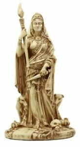 """Ebros Ivory Hecate Statue Greek Goddess Hekate with She-Dogs Figurine 10.75"""" H"""
