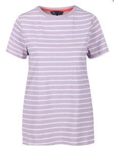 NEW CREW CLOTHING Lavender Cotton Striped Top - Sizes 12 & 14 - RRP £22