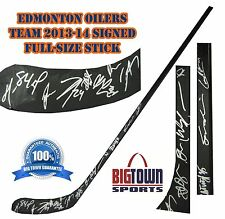 EDMONTON OILERS 2013-14 TEAM Signed FULL SIZE HOCKEY STICK! AUTOGRAPH! 2000287