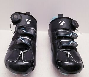 Bontrager Sonic Womens Cycling Shoes with E-Arc1 Cleats-Black Size 7.5-U.S.