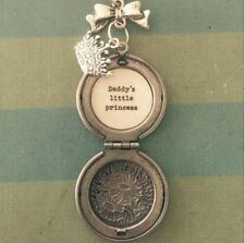 Silver Locket Necklace, Daddy's little Princess, Dad to daughter gift