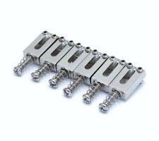 """(6) Chrome 2-1/16"""" Narrow Saddles for Modern/Import Fender Strat® BP-2333-010"""