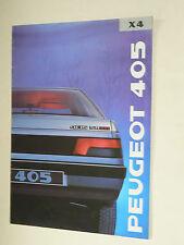 Prospectus PEUGEOT 405  SR X4  1989   brochure  prospekt catalogue car auto