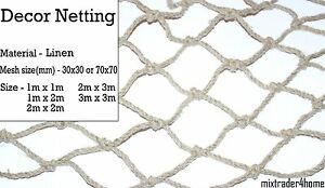 Decoration Netting Linen Eco Net Natural Party Bar Home Garden Decor Scene Stage