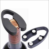 Black Stylish 4-Wheel Wine Bottle Handheld Foil Cutter Rotating Cutting Bla JB