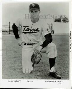 Press Photo Minnesota Twins baseball catcher Paul Ratliff - kfx05907