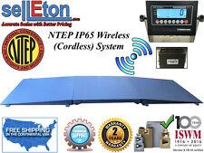 "Ntep Floor scale 48"" x 96"" (4' x 8') Wireless Cordless 2 ramp 2000 lbs x .5 lb"