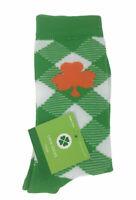 St. Patricks Day Crew Women's Socks Size 4-10 Orange Clover