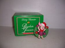 Grolier Disney Piglet Wreath Porcelain Treasures Christmas Ornament NEW