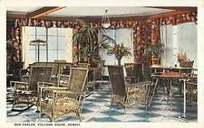 Hawaii Volcano House Sun Parlor Interior Antique Postcard K29930