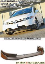 USDM Mu-gen Si Style Front Lip (Urethane) Fits 06-08 Civic 4dr