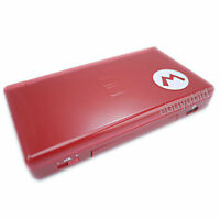 Nintendo DS Lite Console Handheld Video Game System Mario Rouge