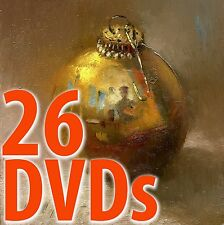 26 Oil Painting DVD Videos - Beginning Step by Step Lessons with  Hall Groat II