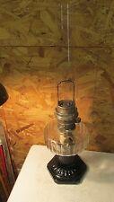 Aladdin Corinthian Crystal & Black Kerosene Lamp