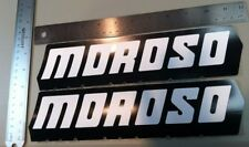 Lot Of 2 Moroso Racing Decals 2 3/4 X 11. Two New Large Moroso Racing Stickers