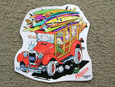 vintage woody wagon ford surfing surfboard sticker decal jimbo phillips skate 92