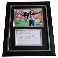 Linford Christie Signed 10x8 Framed Photo Autograph Display Olympics Coa