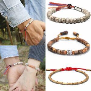 Lucky Tibetan Buddhist Bodhi Beads Bracelet Knots Amulet Bangle Men Jewelry Gift