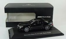 MINICHAMPS MERCEDES BENZ SL65 BLACK SERIES R230 1:43 SUPER BLACK Color Rare Find