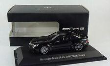 MINICHAMPS MERCEDES BENZ SL65 BLACK SERIES R230 1:43 SUPER BLACK Color Rare Find