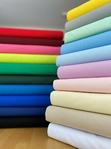 """Plain Solid 100% Craft Cotton Fabric Sheeting OEKO-TEX CERTIFIED 40 colours 45"""""""