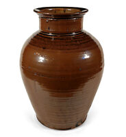 HAND THROWN VINTAGE STUDIO ART POTTERY VASE JAR POWERFUL FORM UNKNOWN ARTIST