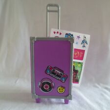 NEW Barbie Daisy Travel Doll Purple Trunk Suitcase & Stickers SEE DESCRIPTION