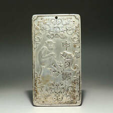 Collectable China Old Miao Silver Hand-Carved Piquant Monkey Delicate Pendant