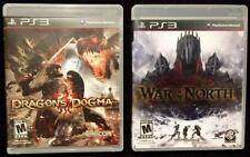 PS3/Sony Playstation 3 Games-Lord of the Rings WAR in the NORTH & Dragon's DOGMA