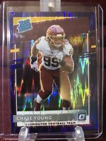 2020 Donruss Optic Chase Young RC Rated Rookie Purple Shock Prizm #166