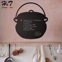 Kitchen Tile Pot Cook Chalkboard Blackboard Vinyl Wall Sticker Decal Restaurant