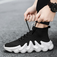 New listing Men's Athletic Sneakers slip Resistant High Top Jogging Casual Shoes Size 8-12