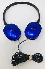 JVC HA-S160 Headphones - Blue Lightweight (Tested )